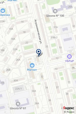 Замок на карте Екатеринбурга