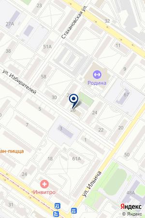 Сильвер на карте Екатеринбурга