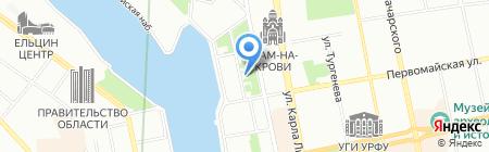 Литературная жизнь Урала XX века на карте Екатеринбурга