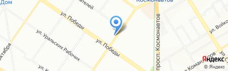 Цифрон на карте Екатеринбурга