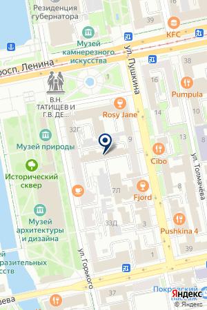 Ювелирная мастерская низких цен Аметист на карте Екатеринбурга