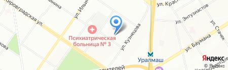 Хорс на карте Екатеринбурга