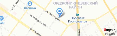 Хлопковый Край на карте Екатеринбурга