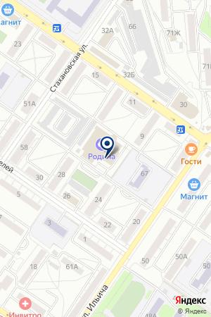 Арена на карте Екатеринбурга