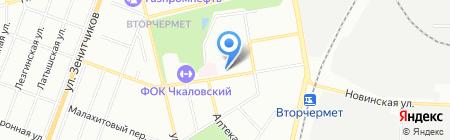 Средняя общеобразовательная школа №44 на карте Екатеринбурга