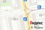 Схема проезда до компании Планета здоровья в Екатеринбурге