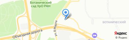 Адванта на карте Екатеринбурга