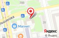 Схема проезда до компании Фаудд в Екатеринбурге