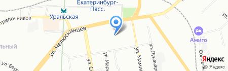 F & F на карте Екатеринбурга
