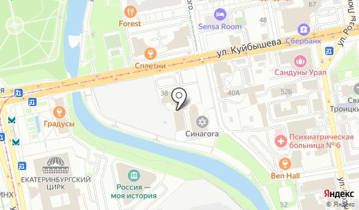ТУРИНФО группа РФР. Схема проезда в Екатеринбурге