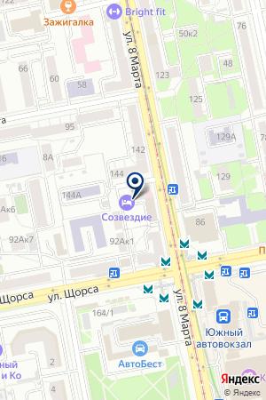 Студия танца ифитнеса FIT-HOUSE на карте Екатеринбурга