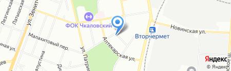 Ермолинские полуфабрикаты на карте Екатеринбурга