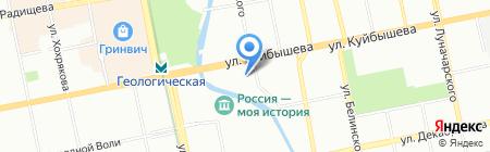 Евро на карте Екатеринбурга