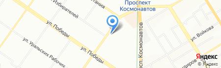 Банкомат Газпромбанк на карте Екатеринбурга