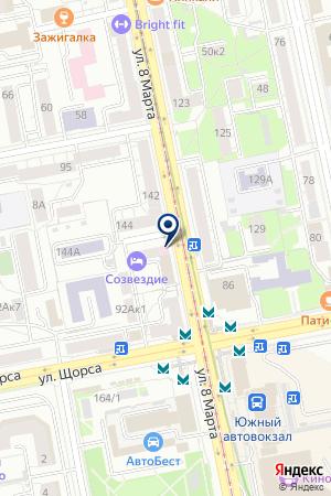 JET на карте Екатеринбурга