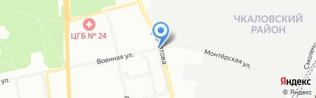 Киоск по продаже мясной на карте Екатеринбурга