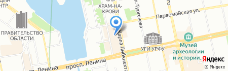 Вологодский лен на карте Екатеринбурга