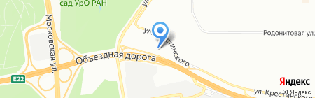 МедТест на карте Екатеринбурга