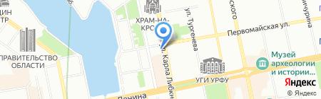 Феникс на карте Екатеринбурга
