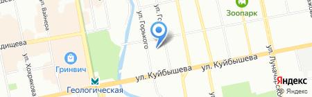СКАМ на карте Екатеринбурга