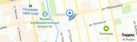 Уральская школа флористики и дизайна на карте Екатеринбурга