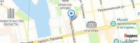Космос на карте Екатеринбурга