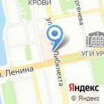 Улитка на карте Екатеринбурга