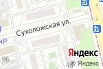 Схема проезда до компании Уралтехпроект в Екатеринбурге