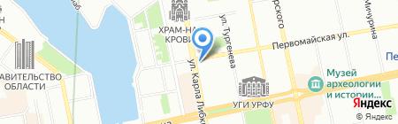 Кадр на карте Екатеринбурга