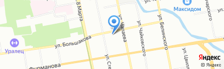 МЕГАПОЛИС на карте Екатеринбурга