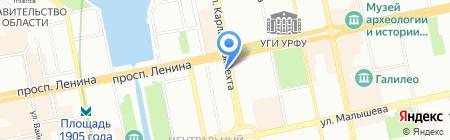 Авеню на карте Екатеринбурга