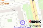 Схема проезда до компании Альфа-банк в Екатеринбурге