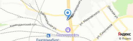 Infiniti на карте Екатеринбурга