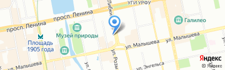 Лифты Мира на карте Екатеринбурга