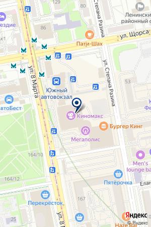 Тридесятое царство на карте Екатеринбурга