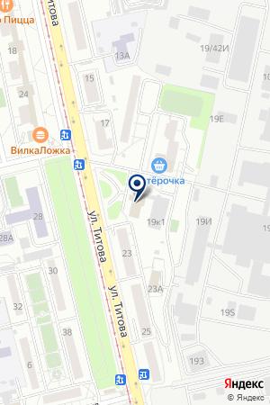 Сауна наул. Титова 19 на карте Екатеринбурга