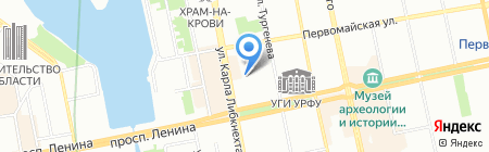 Специаль на карте Екатеринбурга