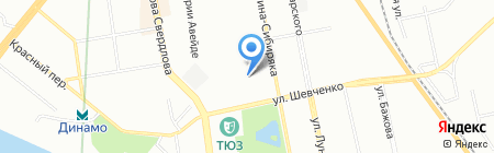 Акварель на карте Екатеринбурга