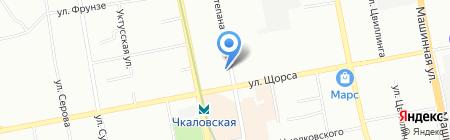 Рубин на карте Екатеринбурга