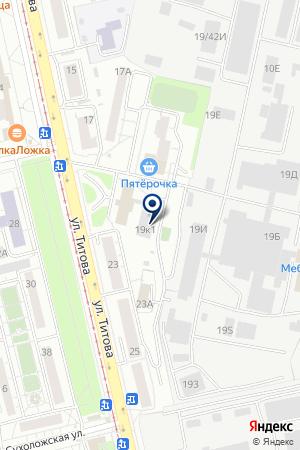 Титов на карте Екатеринбурга