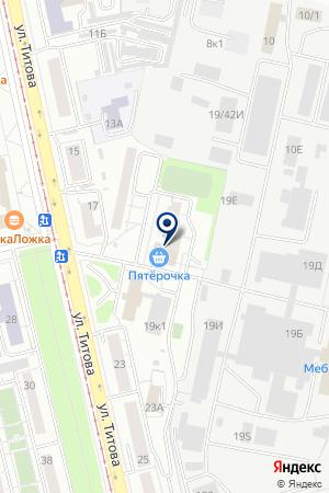 Фишка на карте Екатеринбурга
