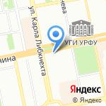 Евразия на карте Екатеринбурга