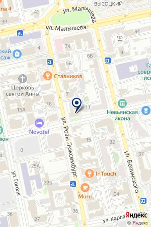 Планетарий на карте Екатеринбурга
