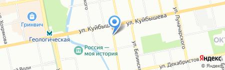 Ларец на карте Екатеринбурга