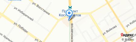 Оптима на карте Екатеринбурга