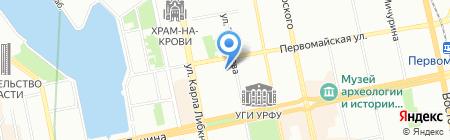 Причал на карте Екатеринбурга