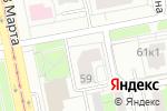 Схема проезда до компании Страхование+ в Екатеринбурге