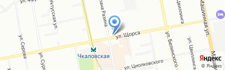 СаунаТэкс на карте Екатеринбурга