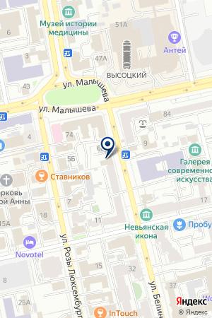 Моя новая квартира на карте Екатеринбурга