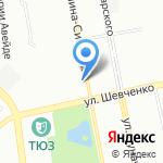 Санторини на карте Екатеринбурга